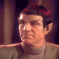 Jean-Luc Picard disguised as a Romulan (TNG-208)